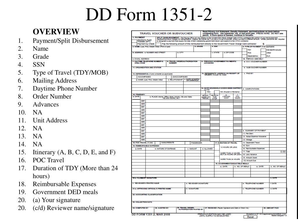 DD Form 1351-2
