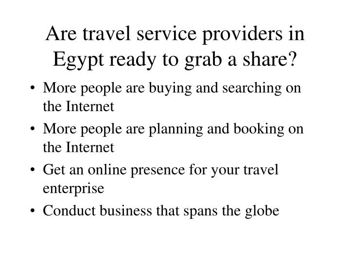 Are travel service providers in egypt ready to grab a share