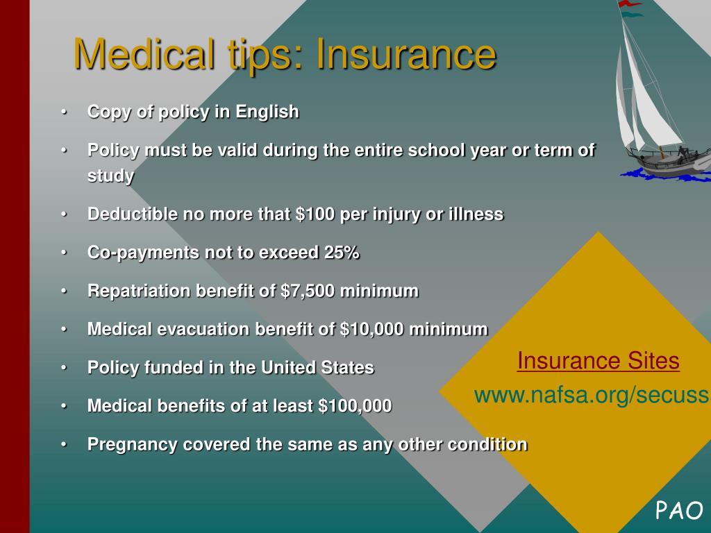 Medical tips: Insurance