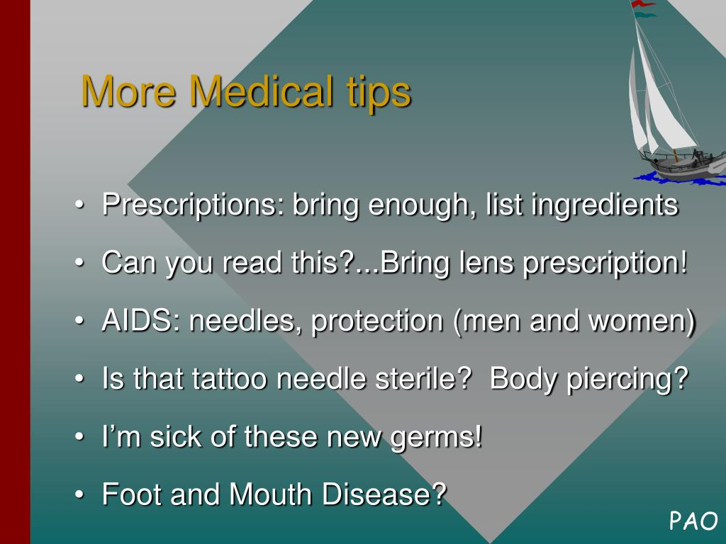 More Medical tips