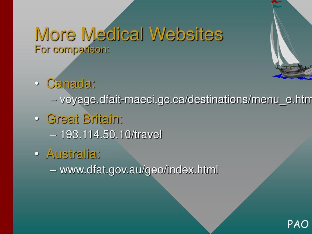 More Medical Websites