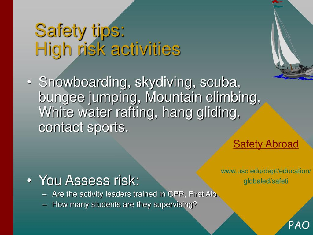 Safety tips: