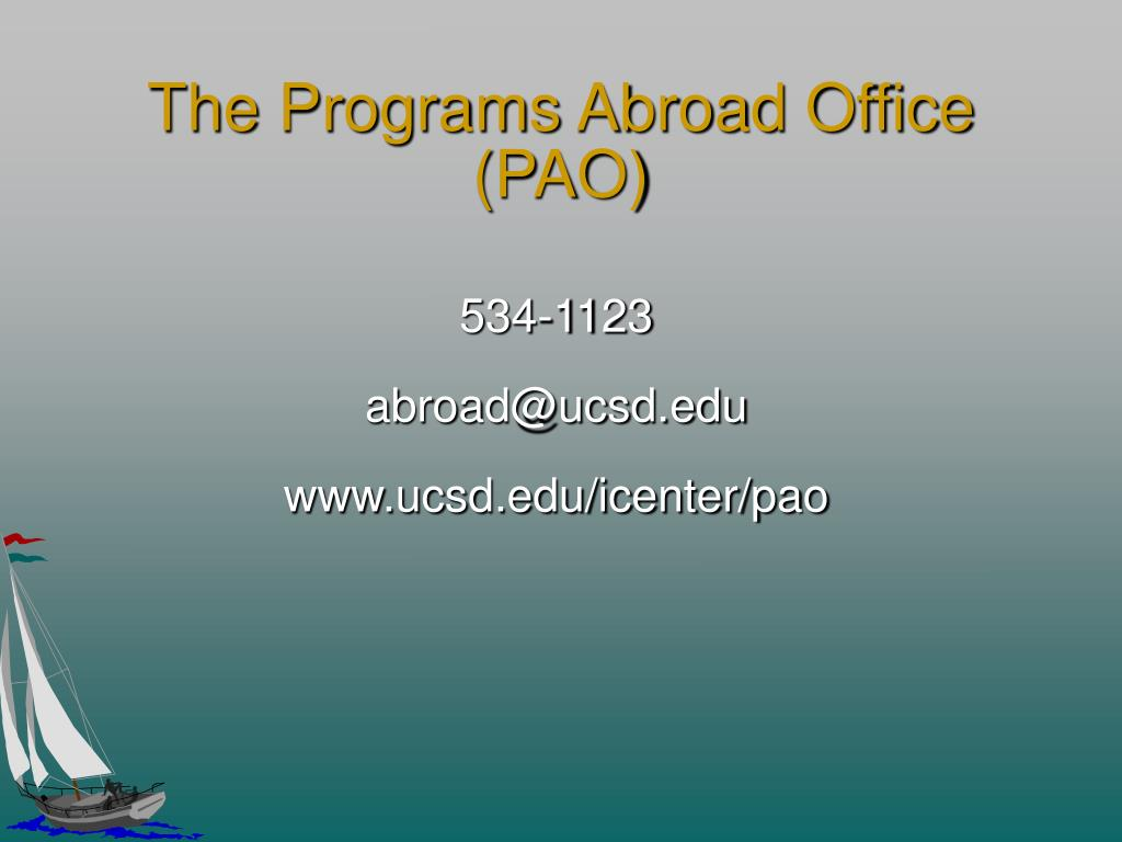 The Programs Abroad Office