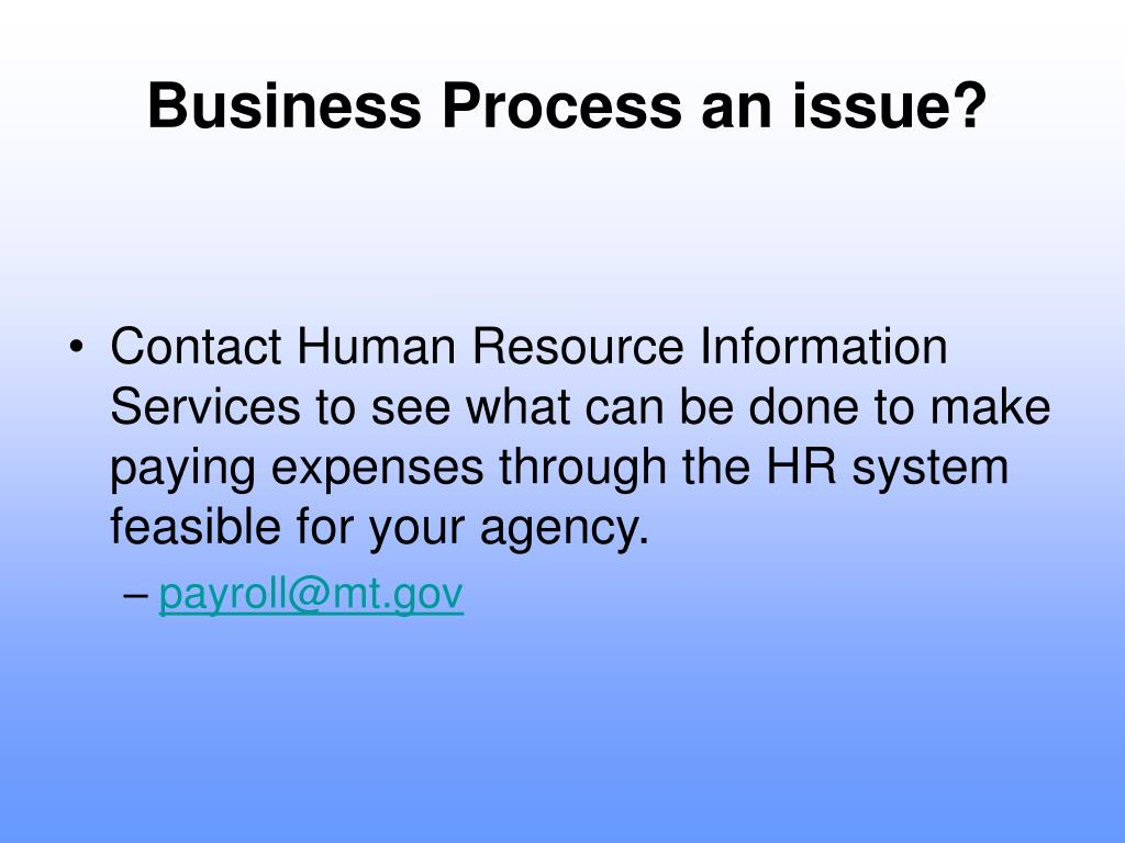 Business Process an issue?
