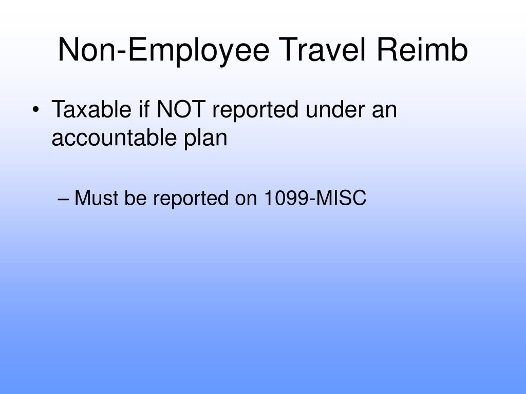 Non-Employee Travel Reimb