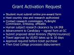 grant activation request