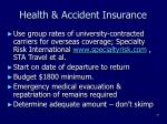 health accident insurance