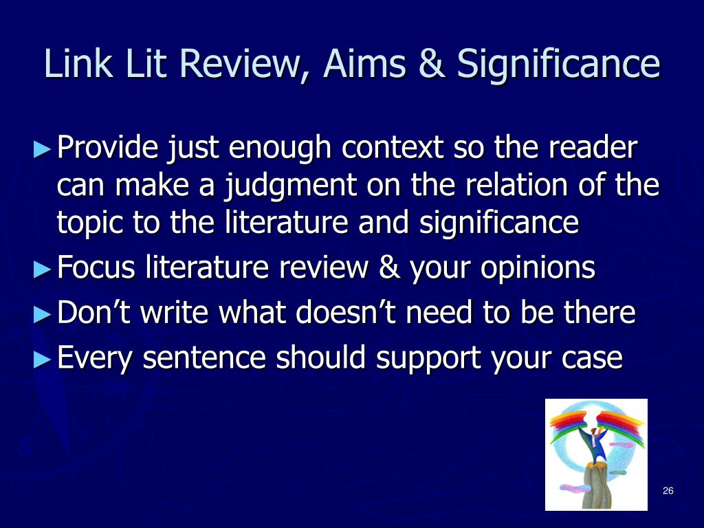 Link Lit Review, Aims & Significance