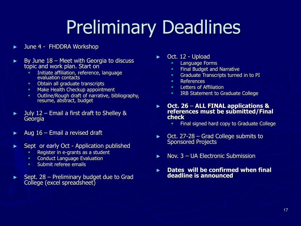 June 4 -  FHDDRA Workshop