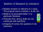 relation of research to literature