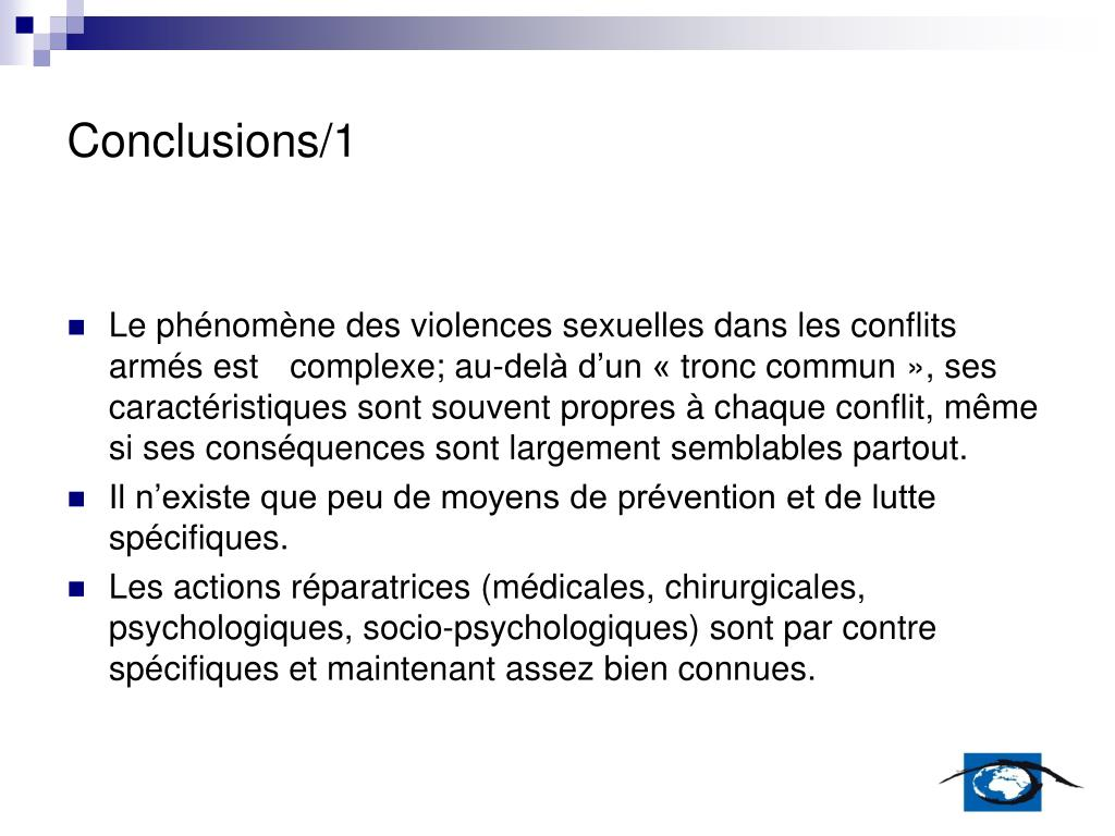 Conclusions/1