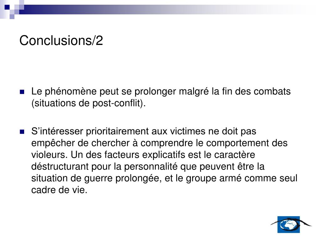 Conclusions/2
