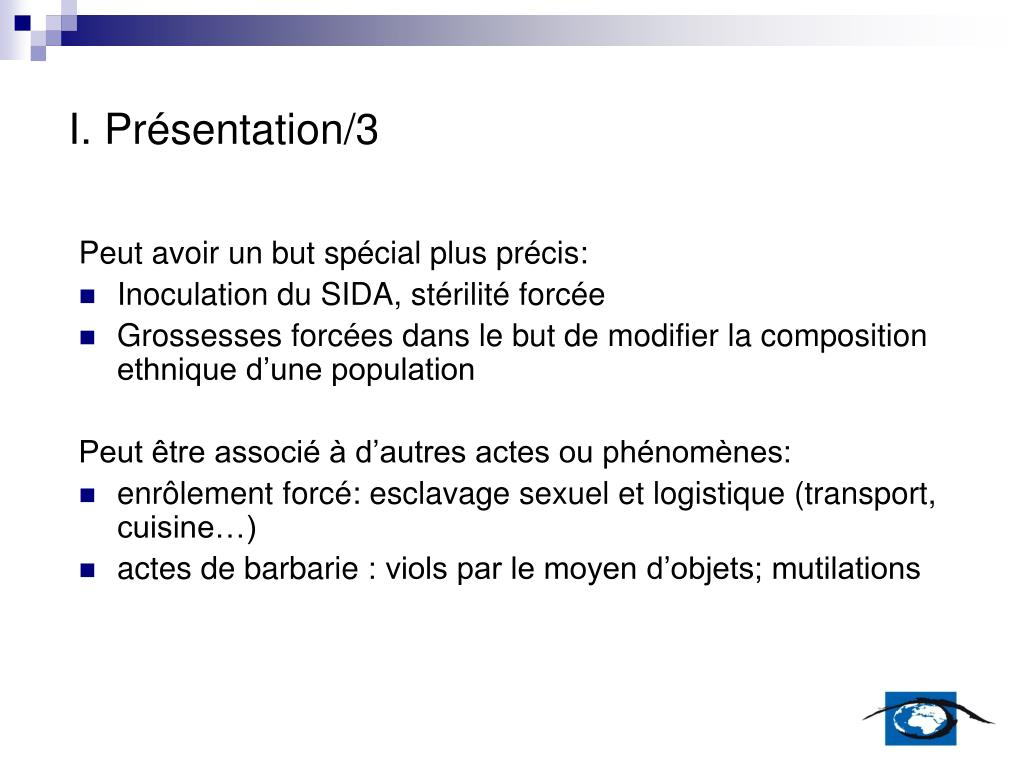 I. Présentation/3