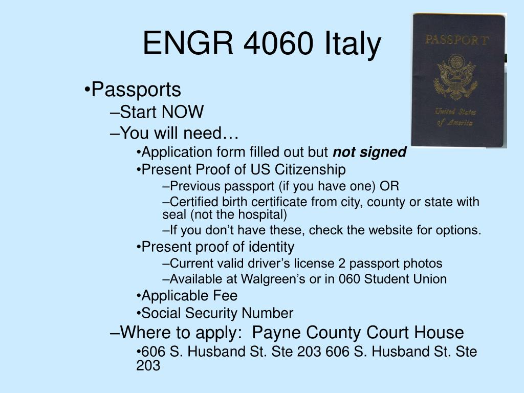 ENGR 4060 Italy