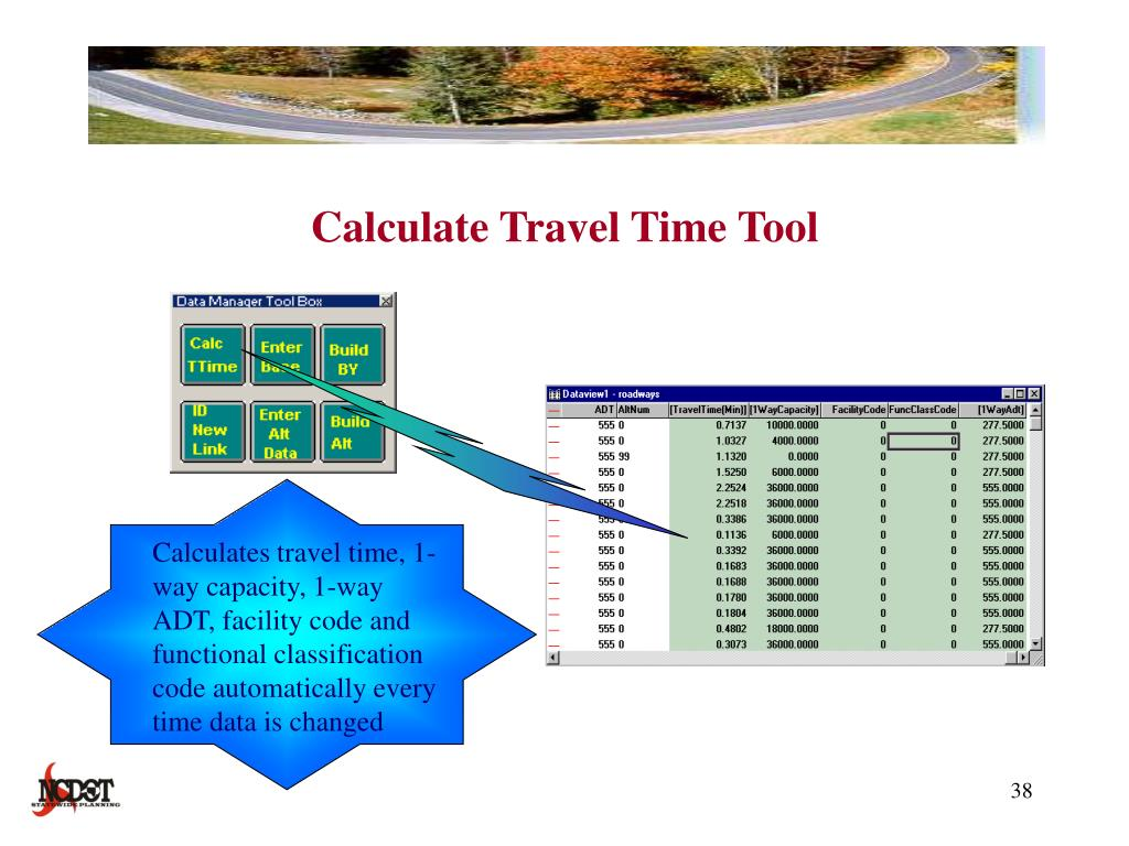 Calculate Travel Time Tool