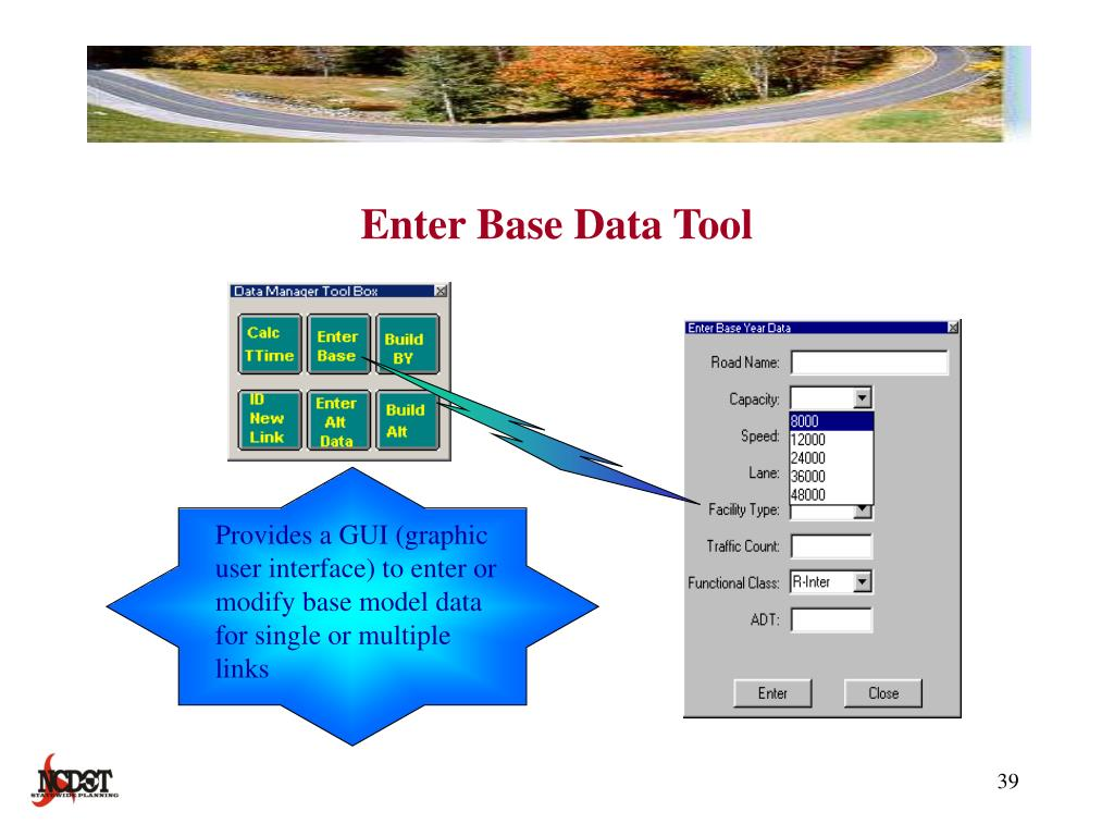 Enter Base Data Tool
