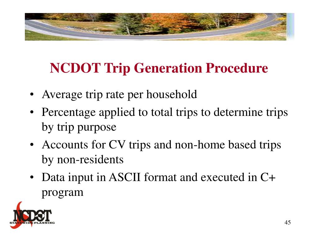 NCDOT Trip Generation Procedure