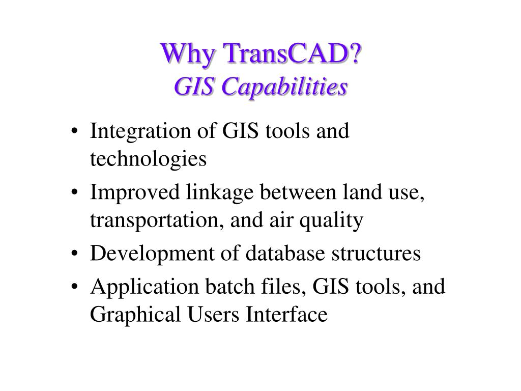 Integration of GIS tools and technologies