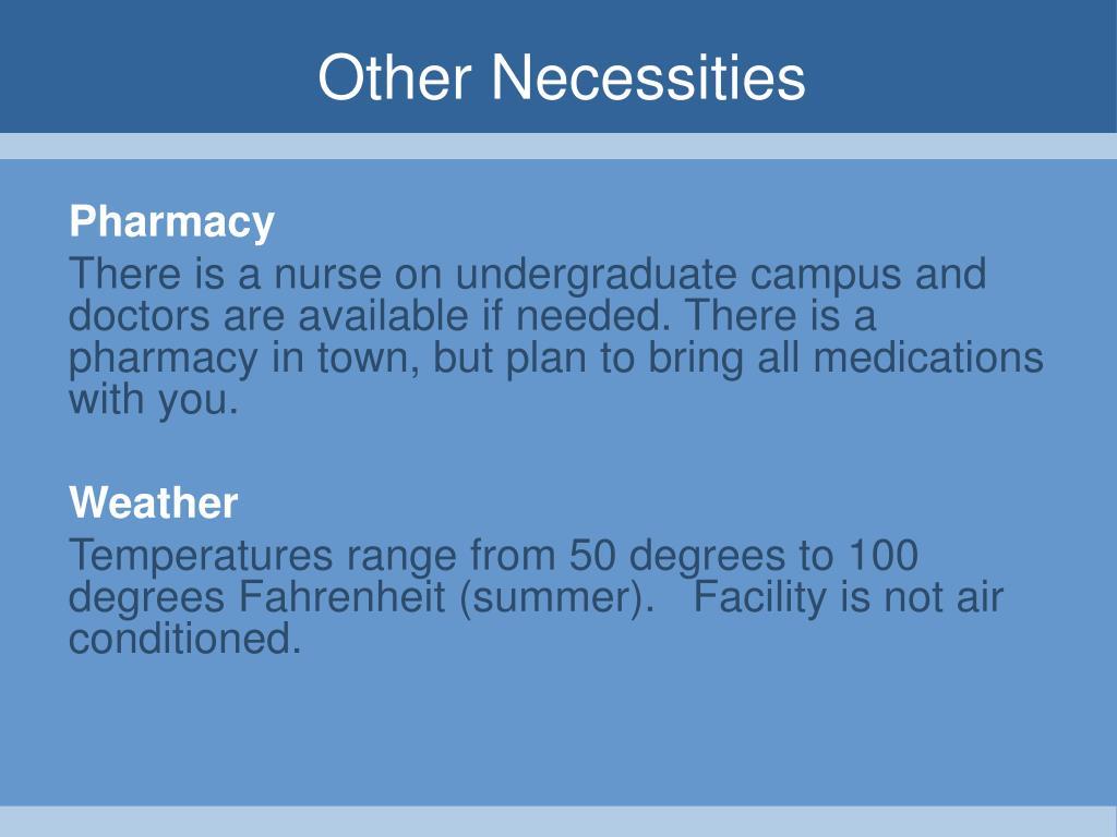 Other Necessities
