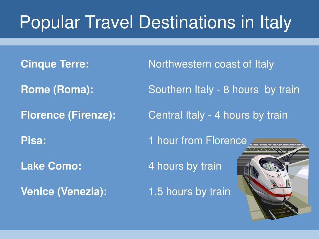 Popular Travel Destinations in Italy