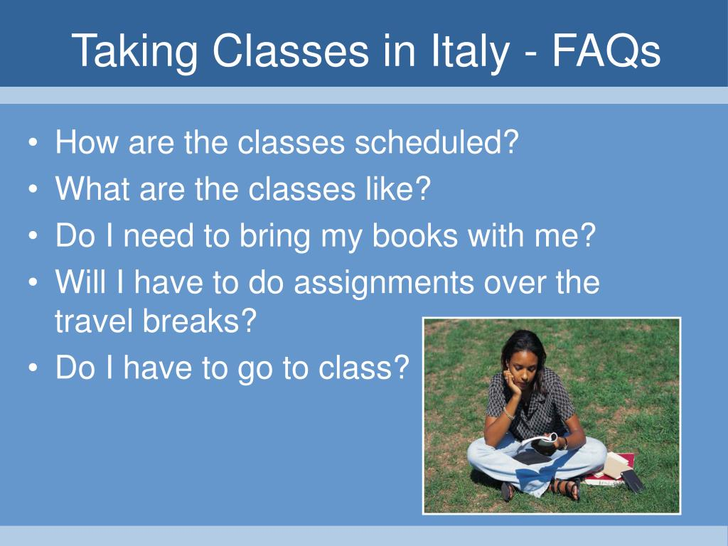 Taking Classes in Italy - FAQs