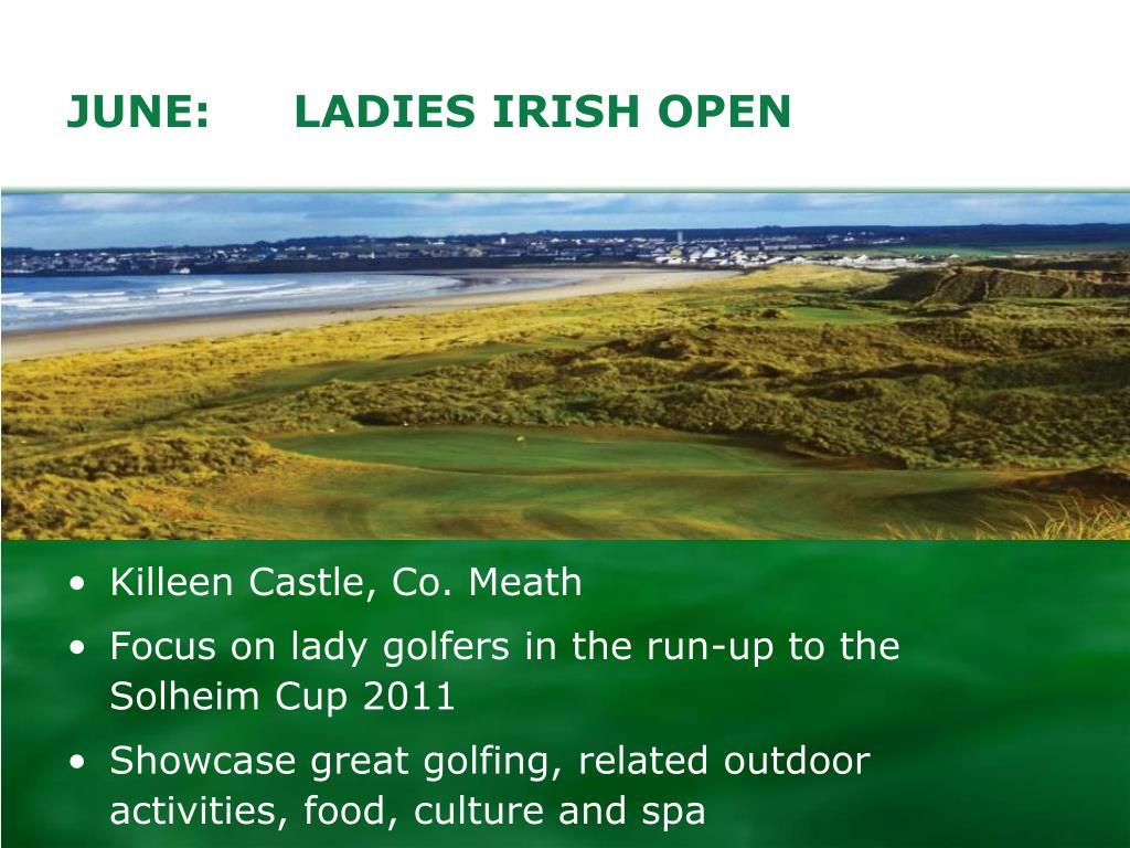 JUNE:LADIES IRISH OPEN