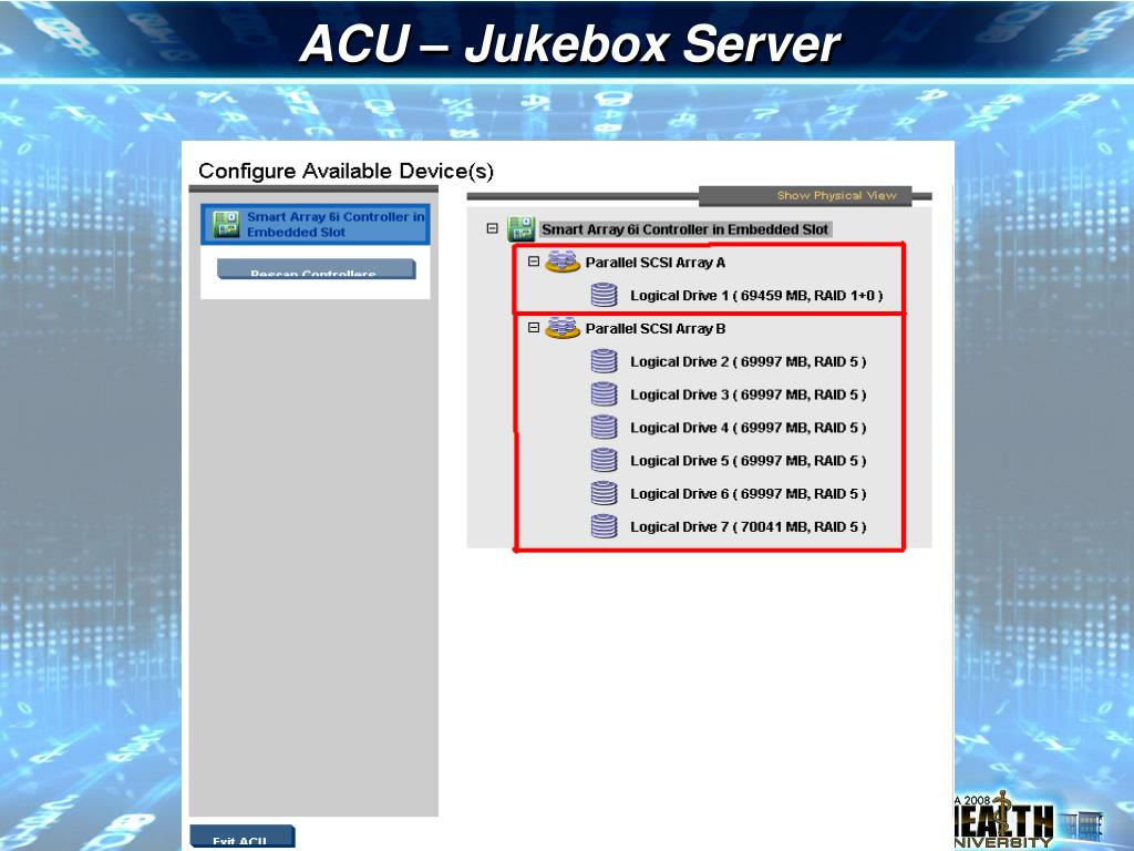 ACU – Jukebox Server