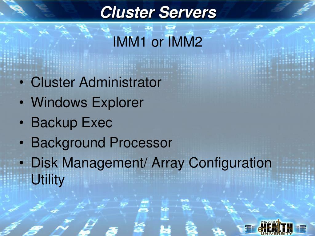 Cluster Servers