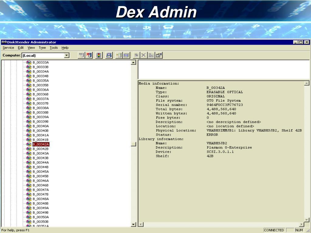 Dex Admin