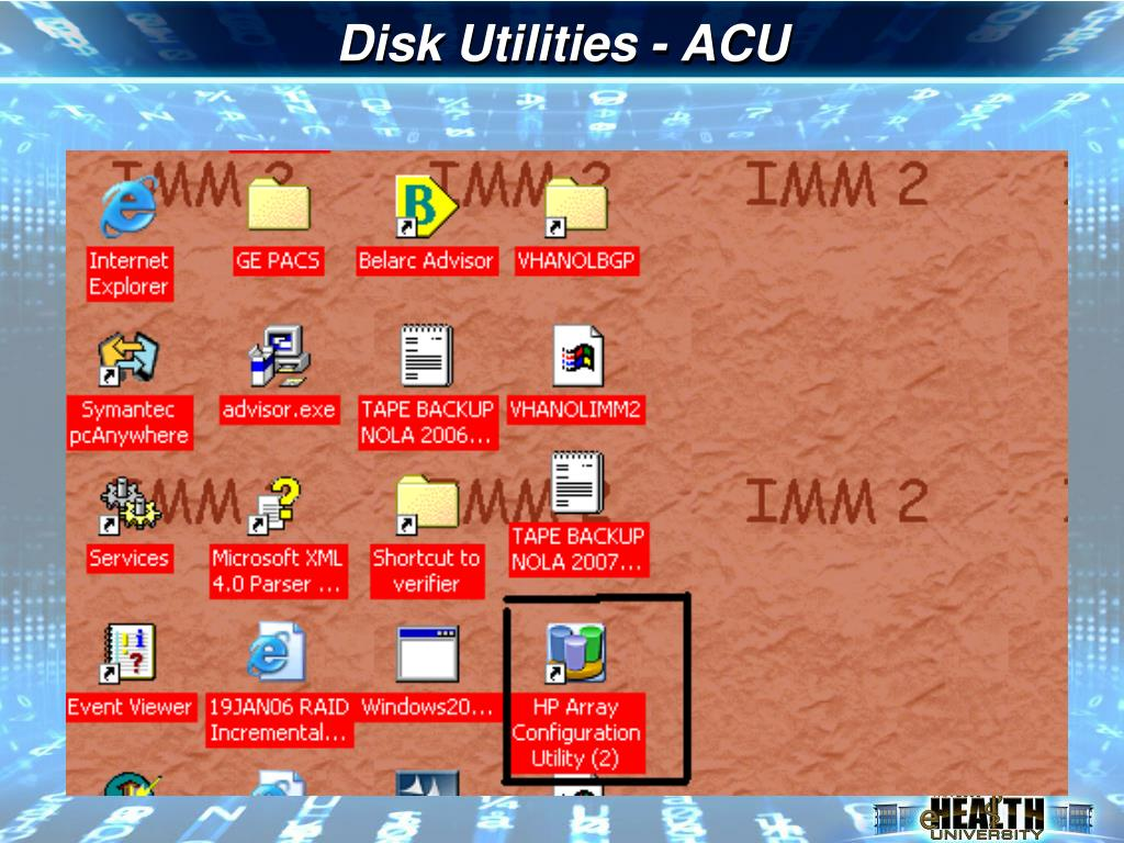Disk Utilities - ACU