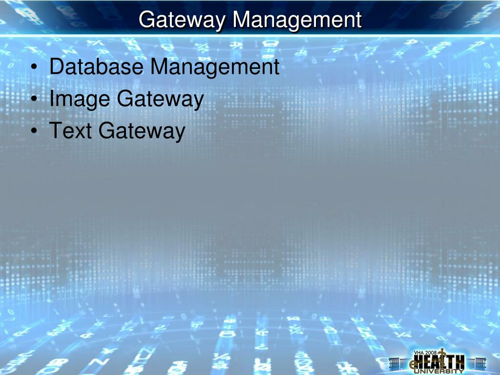 Gateway Management