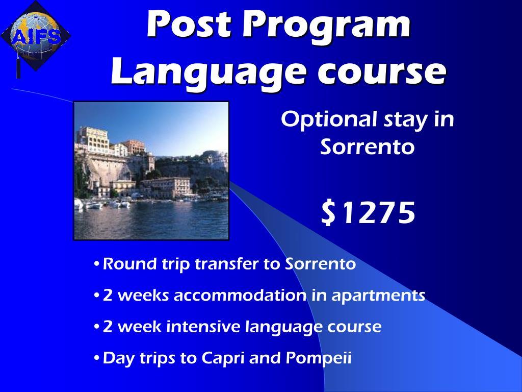 Post Program Language course
