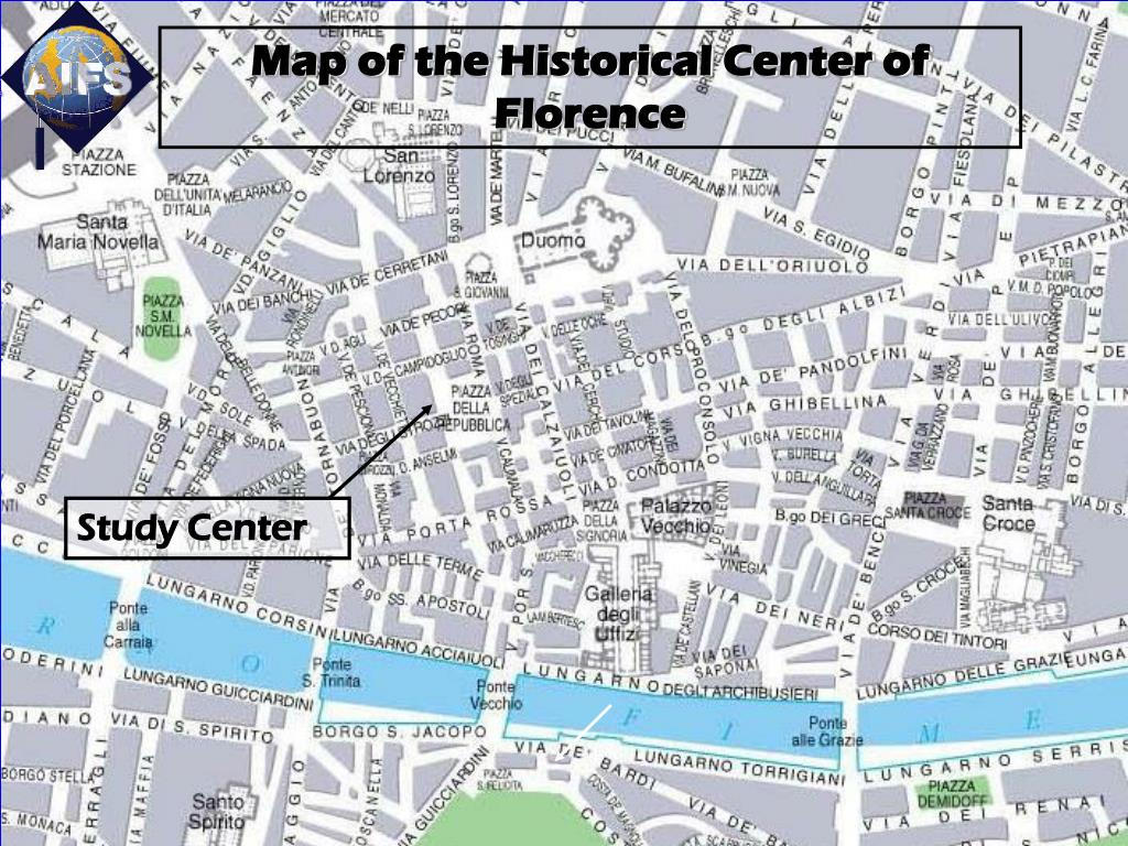 Map of the Historical Center of Florence