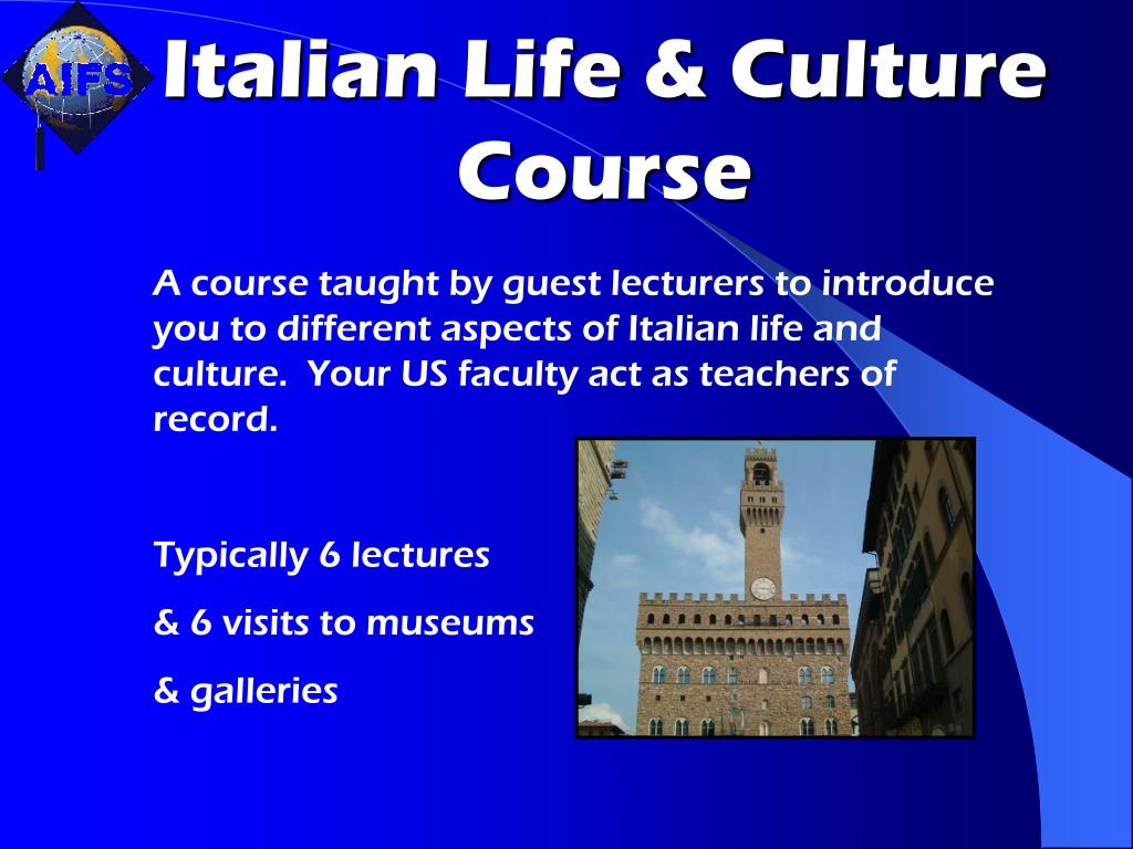 Italian Life & Culture Course