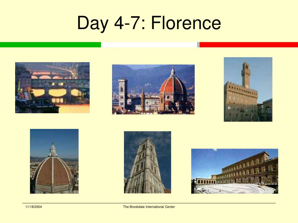 Day 4-7: Florence