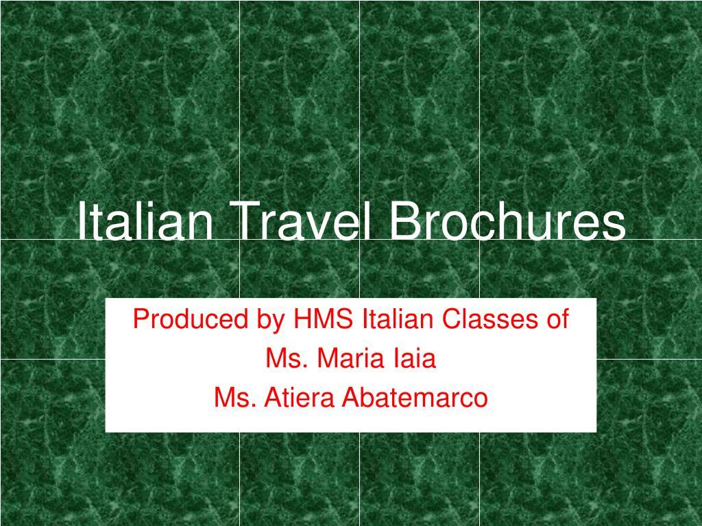 Italian Travel Brochures