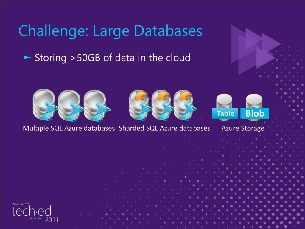 Challenge: Large Databases
