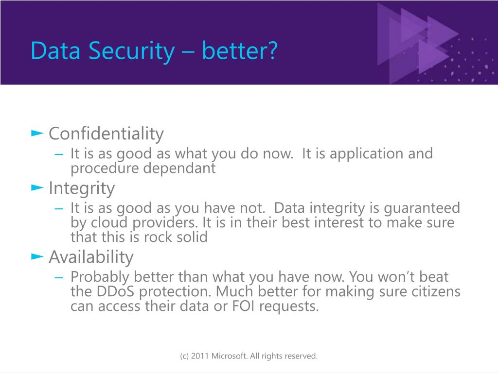 Data Security – better?