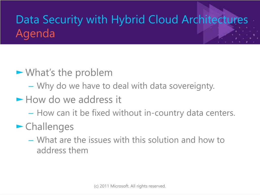 Data Security with Hybrid Cloud Architectures