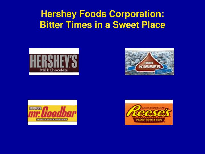 hershey foods company The hershey company , known until april 2005 as the hershey foods corporation and commonly called hershey's , is one of the largest chocolate manufacturers in north america.