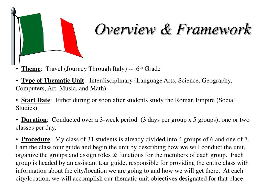 Overview & Framework
