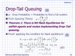 drop tail queuing