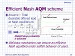 e fficient n ash aqm scheme