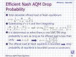 efficient nash aqm drop probability