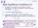 nash equilibrium conditions 1