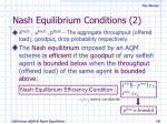 nash equilibrium conditions 2