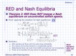 red and nash equilibria