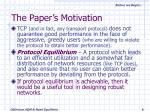 the paper s motivation