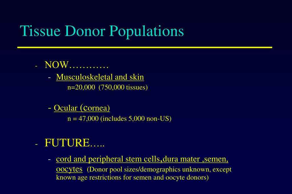 Tissue Donor Populations
