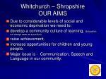 whitchurch shropshire our aims
